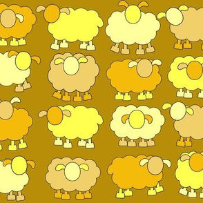 yellow sheeps