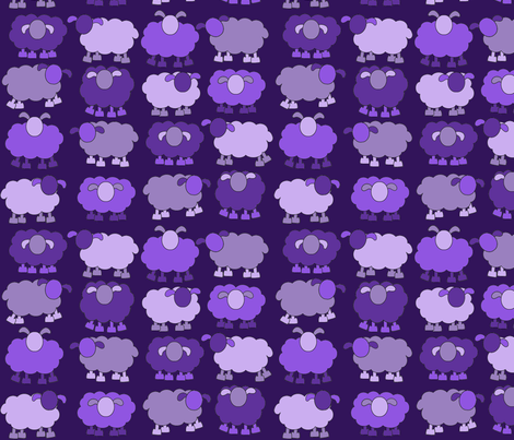 purple sheeps fabric by engelbam on Spoonflower - custom fabric