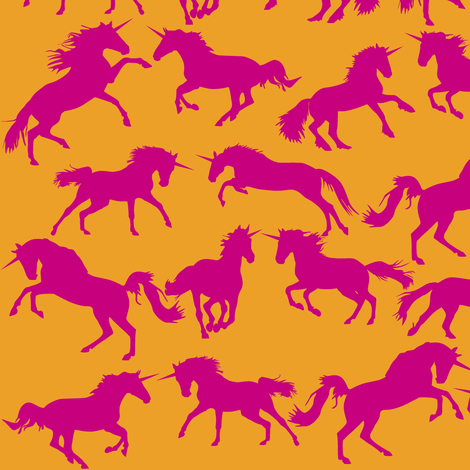 Unicorn Tootie Frootie fabric by smuk on Spoonflower - custom fabric