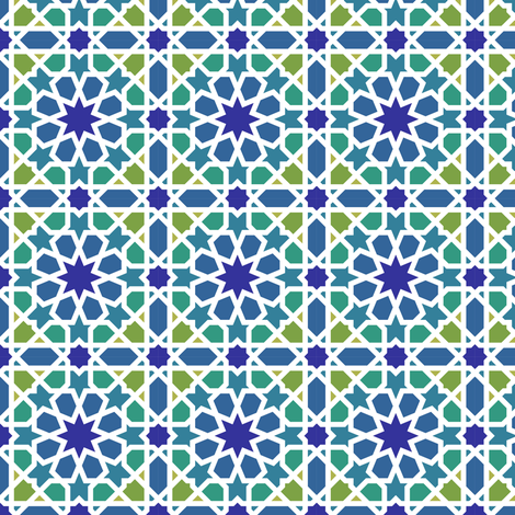Arabic tiles fabric by analinea on Spoonflower - custom fabric
