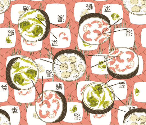 dim_sum_shrimp__n_grits_nc-ch fabric by cinthr on Spoonflower - custom fabric