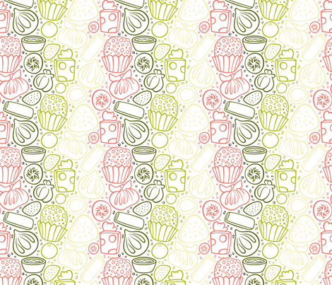 Sum Noms fabric by smashworks on Spoonflower - custom fabric
