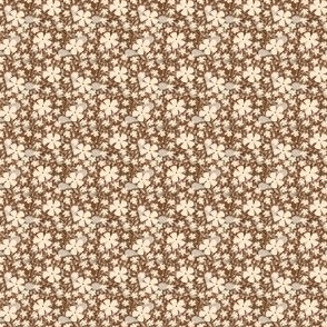 Brown floral ditsy