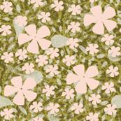 Olive floral ditsy