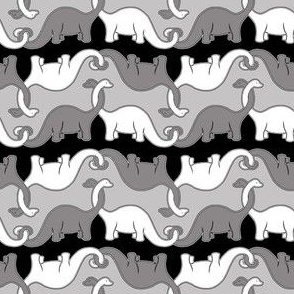 Black and White Dinosaur Chain