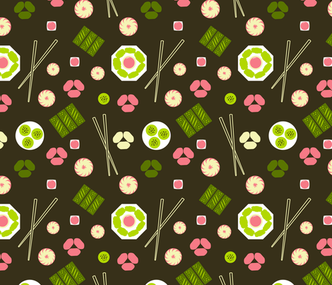 Dim Sum Brown fabric by vinpauld on Spoonflower - custom fabric