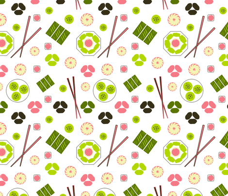 Dim Sum White fabric by vinpauld on Spoonflower - custom fabric