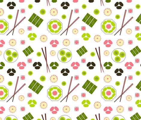 Dim Sum White fabric by vinpauld on Spoonflower - custom fabric