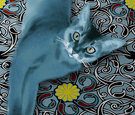 Persian Blue Cat (Quilt)