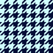 Classic Houndstooth Check in Navy + Mint
