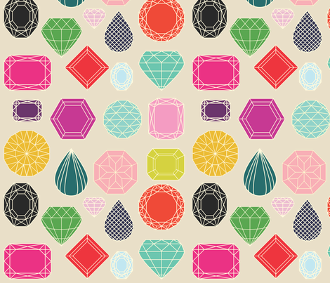 Gemstones fabric by michellenilson on Spoonflower - custom fabric