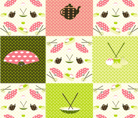 DIM_SUM fabric by yazooky on Spoonflower - custom fabric