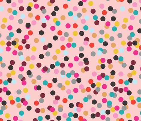 Confetti (Pink) fabric by michellenilson on Spoonflower - custom fabric