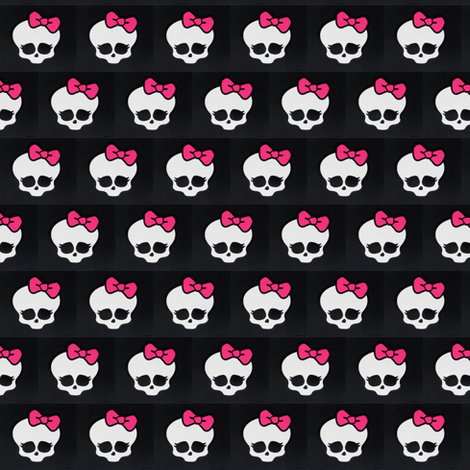 Monster High logo fabric by alexusart on Spoonflower - custom fabric