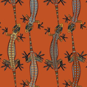 gecko stripe orange