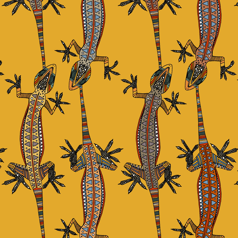 gecko stripe gold fabric by scrummy on Spoonflower - custom fabric