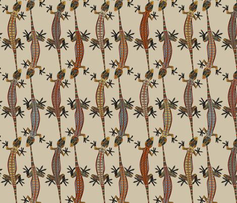 gecko stripe stone fabric by scrummy on Spoonflower - custom fabric