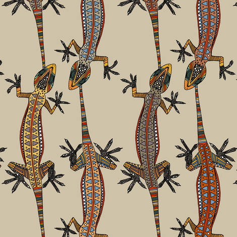 gecko stripe stone fabric by scrummy on Spoonflower - custom fabric