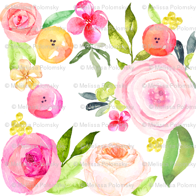 Spring Peonies, Roses, and Poppies // SMALL