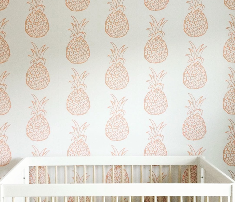 Pineapple Party in Coral and White