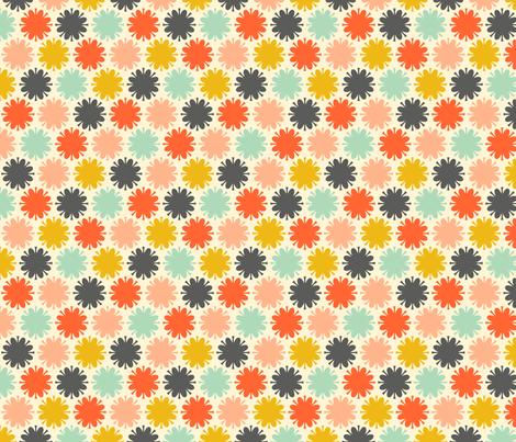 Fleurir: colorburst fabric by nadiahassan on Spoonflower - custom fabric