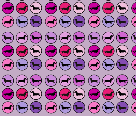 Oscar's Mod Mauve fabric by theartwerks on Spoonflower - custom fabric