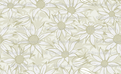 Flannel flowers for the bride