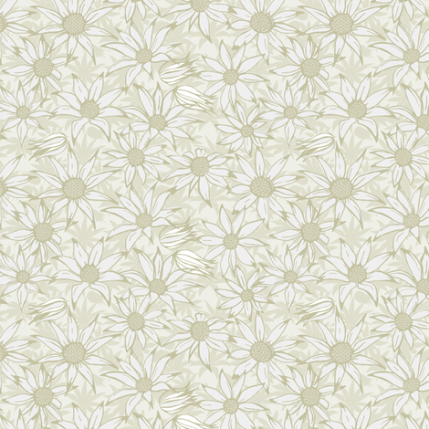 Flannel flowers for the bride fabric by bippidiiboppidii on Spoonflower - custom fabric