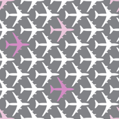 Pink Planes on Gray