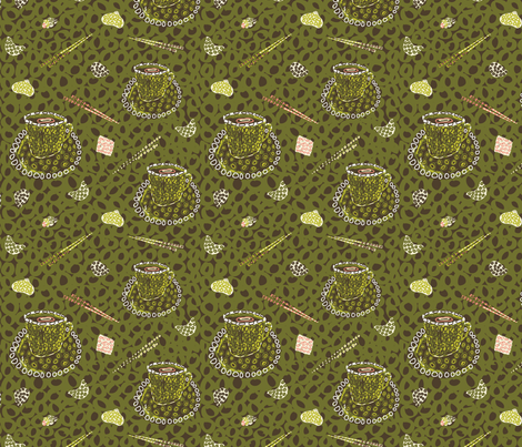 yam_cha fabric by uramarinka on Spoonflower - custom fabric