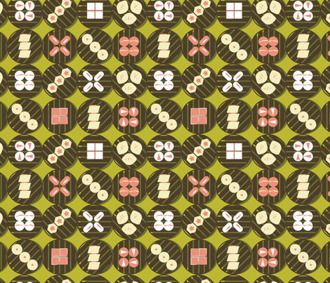 Lime Dim Sum fabric by girlfighter on Spoonflower - custom fabric