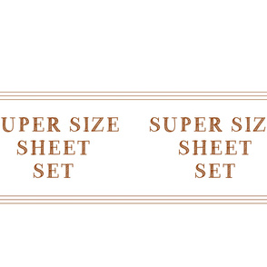 super size sheet set case