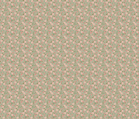 winter floral // pine on birch // extra small  fabric by ivieclothco on Spoonflower - custom fabric