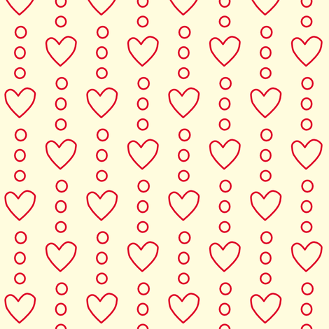 Heart Strings in White fabric by anikabee on Spoonflower - custom fabric