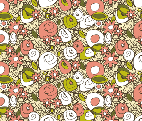 retro dim sum fabric by scrummy on Spoonflower - custom fabric