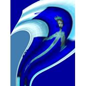 Swirly Jesus on Tardis- Wall hanging/Poster