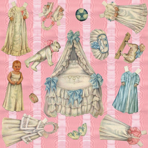 Edwardian Paper Doll Nursery ~ Pink