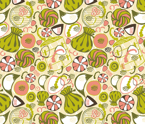 Dim Sum Delicious! fabric by slumbermonkey on Spoonflower - custom fabric