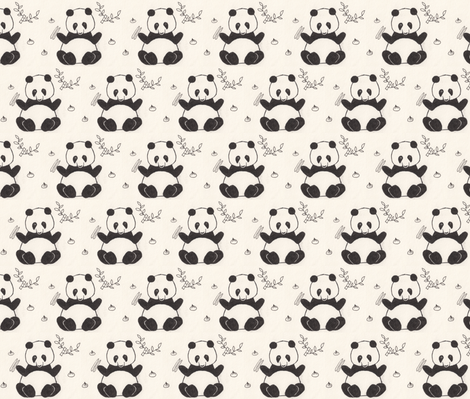 Dim Sum Panda fabric by katiame on Spoonflower - custom fabric