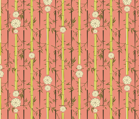 Shanghai Dumpling Bamboo Windchime fabric by audsbodkin on Spoonflower - custom fabric