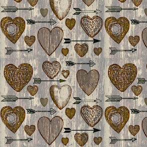 Antique Hearts and Arrows