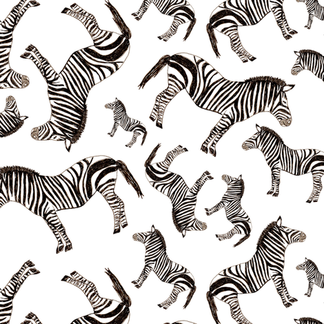 zebras fabric by lusyspoon on Spoonflower - custom fabric