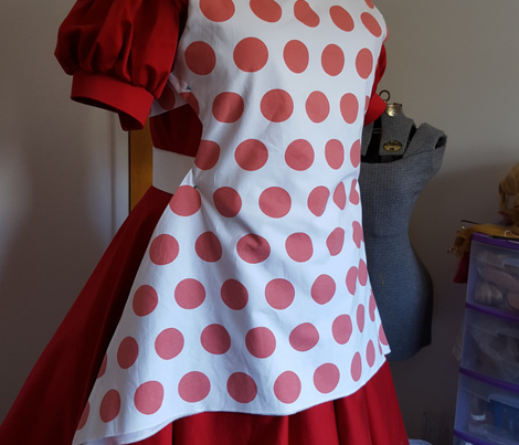 Polka Dot - Red on White XL