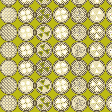 Cantonese Dim Sum fabric by vannina on Spoonflower - custom fabric