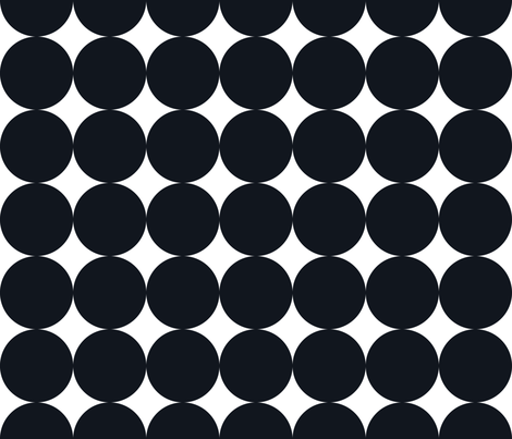 Polka Dot - Black on White XXL fabric by juliesfabrics on Spoonflower - custom fabric