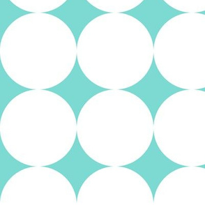 Polka Dot - White on Turquoise XXL