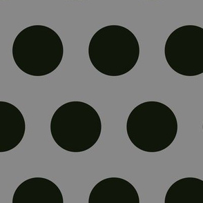 Polka Dot - Black on Grey XL