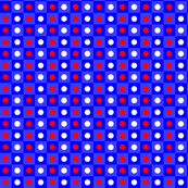 Red White Blue Polka Dot Check