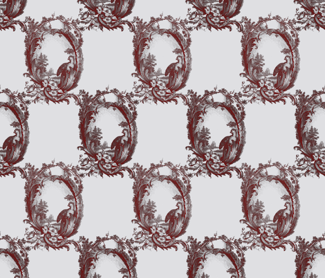 Toile de Lally! ~ Grey  fabric by peacoquettedesigns on Spoonflower - custom fabric