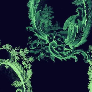 Toile de Lally! ~ Verdigris Midnight